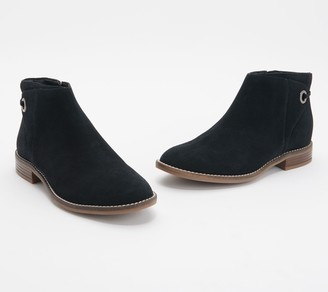 Clarks Collection Suede Booties - Camzin Bow