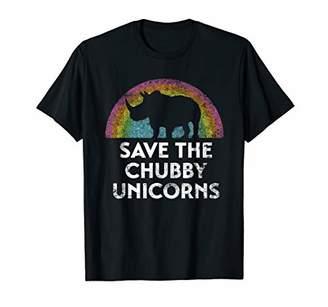 Save the Chubby Unicorns with Rainbow Gift T-Shirt