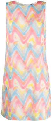M Missoni Zig-Zag Tie-Dye Print Shift Dress
