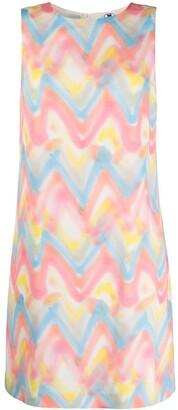 M Missoni Zig-Zag Tie-Dye Print Shift Dress