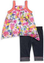 Little Lass Baby Girls Baby Girls Floral Tunic and Leggings Set