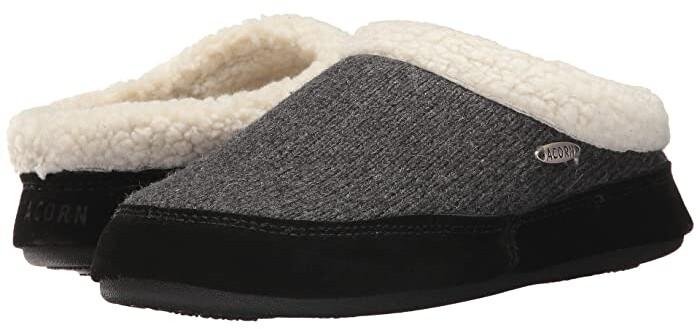 Acorn Mule Ragg (Dark Charcoal Heather) Women's Slippers