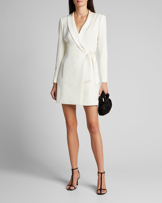 Milly Heather Cady Blazer Wrap Dress
