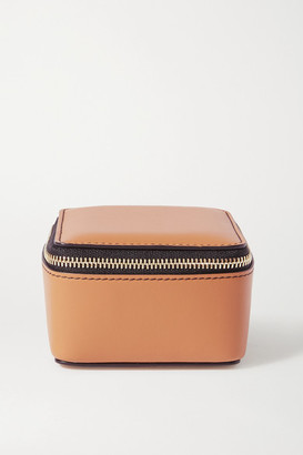 Smythson Bond Leather Pouch - Tan