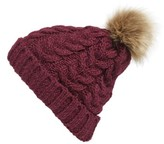 BP Women's Knit Beanie With Faux Fur Pompom - Black
