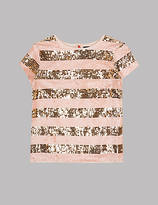 Autograph Sequin Stripe Top (3-14 Years)