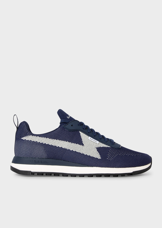Paul Smith Men's Navy 'Rocket' Recycled Knit Sneakers