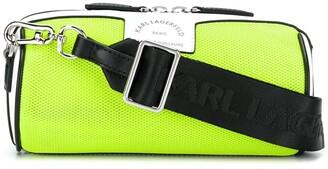 Karl Lagerfeld Paris Perforated Detail Logo Crossbody