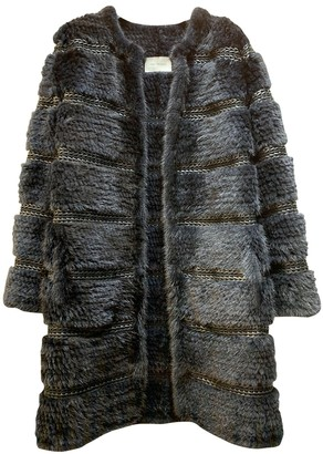 Yves Salomon Blue Mink Coat for Women