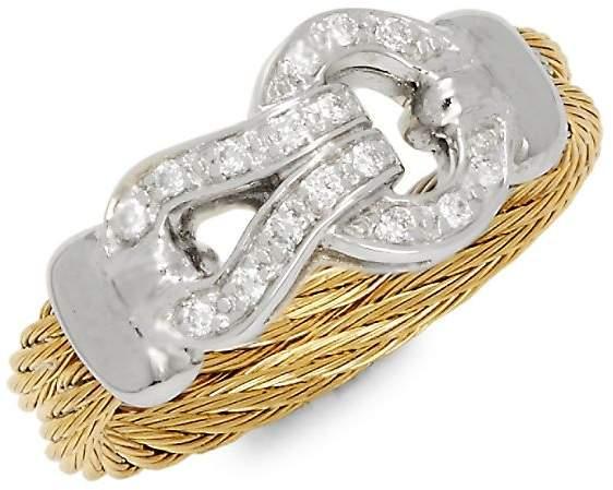 Alor Women's Diamonds, 18K White & Yellow Gold Ring