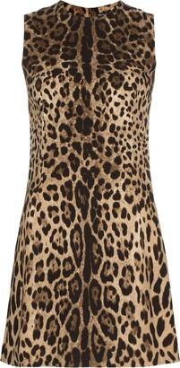 Dolce & Gabbana leopard shift mini dress