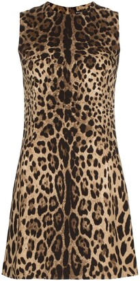 Dolce & Gabbana Leopard Shift Mini Dress