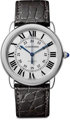 Cartier Ronde de Solo Stainless Steel & Black Alligator-Strap Watch