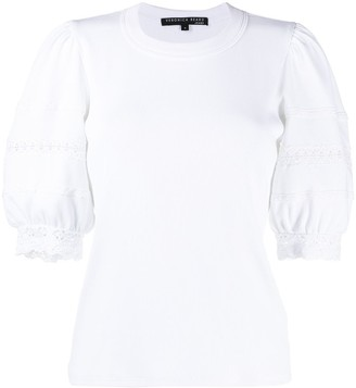 Veronica Beard puff-sleeve cotton T-shirt