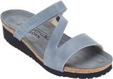Naot Footwear Leather Asymmetrical Strapped Slide Sandals - Gabriela