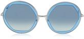 Emilio Pucci EP36 Large Round Acetate Transparent Women's Sunglasses