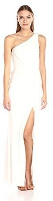 ABS by Allen Schwartz Women's One Shoulder Fitted Gown W/Shirring Details