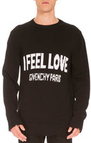 Givenchy I Feel Love Intarsia Sweater, Black