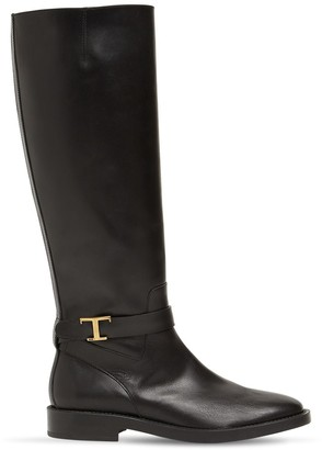 Tod's 20mm Leather Tall Boots
