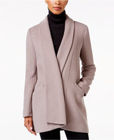 Calvin Klein Shawl-Collar Wool-Blend Walker Coat