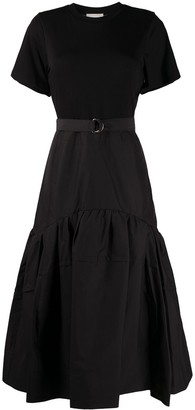 3.1 Phillip Lim belted panelled T-shirt dress