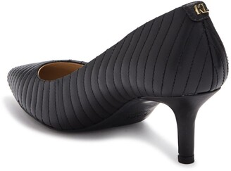 Karl Lagerfeld Paris Rosette Quilted Pointed Toe Pump