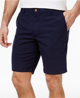 Club Room Men's Dot-Pattern Cotton Shorts, Only at Macy's