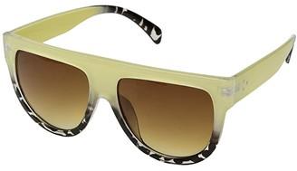 San Diego Hat Company BSG1087 Shield Shape Two-Tone Sunglasses with Brown Tint Lense 100% UVA/P Protection (Beige) Fashion Sunglasses