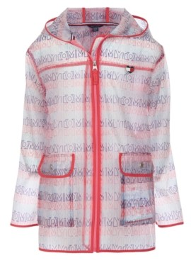 Tommy Hilfiger Little Girls Hooded Raincoat