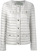 Herno collarless padded jacket - women - Feather Down/Polyamide - 40