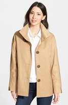 Ellen Tracy Cotton Blend Stand Collar A-Line Jacket (Regular & Petite)