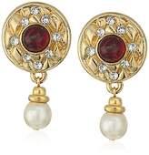 "Ben-Amun Jewelry ""Dutchess"" Pearl Drop Earrings"
