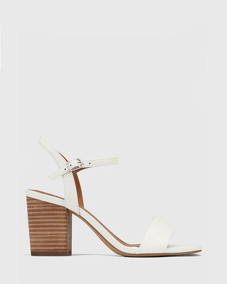 Wittner - Women's White Sandals - Collin Leather Block Heel Ankle Strap Sandals - Size One Size, 37 at The Iconic
