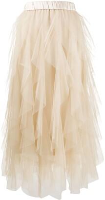 Peserico Ruffled Tulle Skirt
