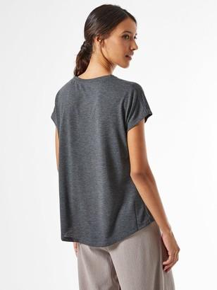 Dorothy Perkins LA Eagle Rock Logo T-shirt -Grey