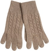 Portolano Cashmere-Blend Jersey Knit Gloves - Rib Cuff (For Men)