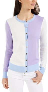 Charter Club Colorblocked Cardigan, Created for Macy's