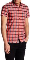 HUGO BOSS Esushie Plaid Short Sleeve Trim Fit Shirt