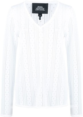 Marc Jacobs pointelle V-neck jumper