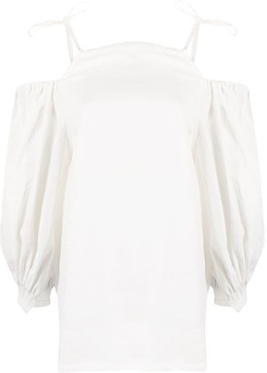 Jil Sander Cold Shoulder Blouse