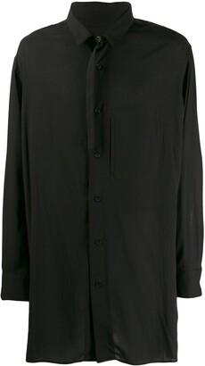 Yohji Yamamoto Buckled Collar Longline Shirt