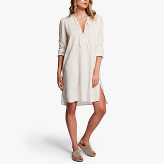 James Perse Linen Peasant Dress
