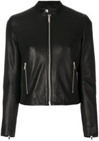 Dondup button collar biker jacket