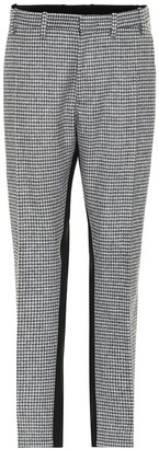 N°21 Houndstooth wool-blend pants
