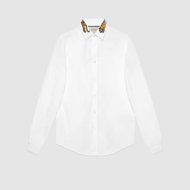 Gucci Cotton Duke shirt with tiger