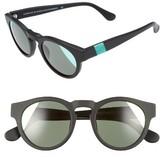 Westward Leaning Women's 'Voyager' 48Mm Sunglasses - Black Matte/ Neon Green