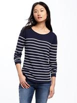 Old Navy Classic Striped Crew-Neck Sweater for Women