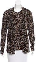 Tory Burch Wool Leopard Patterned Cardigan Set