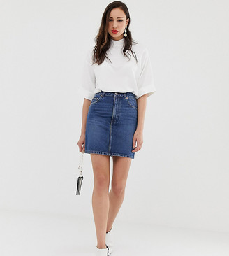Asos DESIGN Tall denim original mini skirt