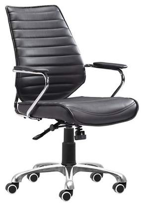 ZM Home Modern Low Back Adjustable Office Chair - Black